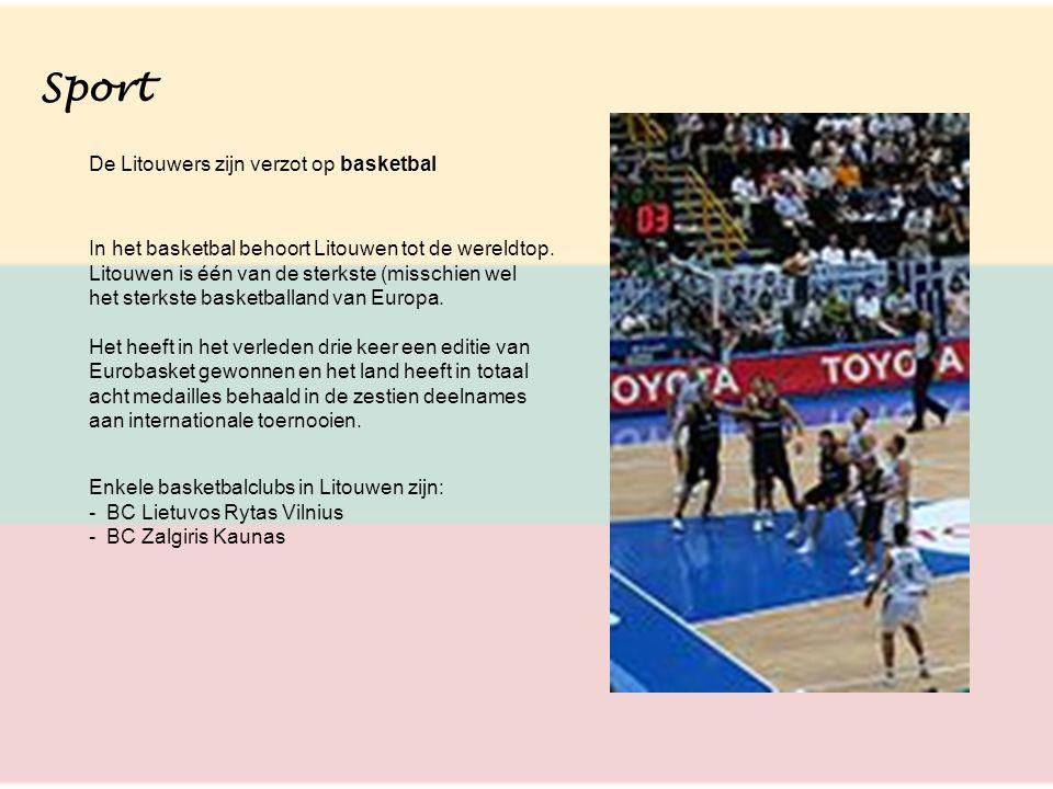 Sport De Litouwers zijn verzot op basketbal