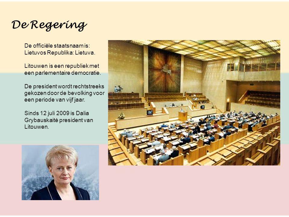 De Regering De officiële staatsnaam is: Lietuvos Republika: Lietuva.