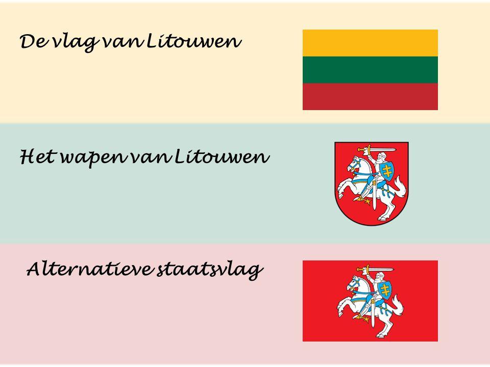 De vlag van Litouwen Het wapen van Litouwen Alternatieve staatsvlag