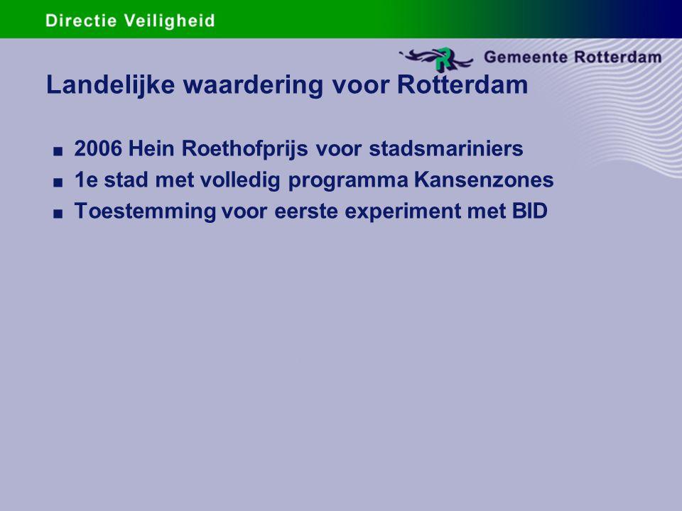 Landelijke waardering voor Rotterdam