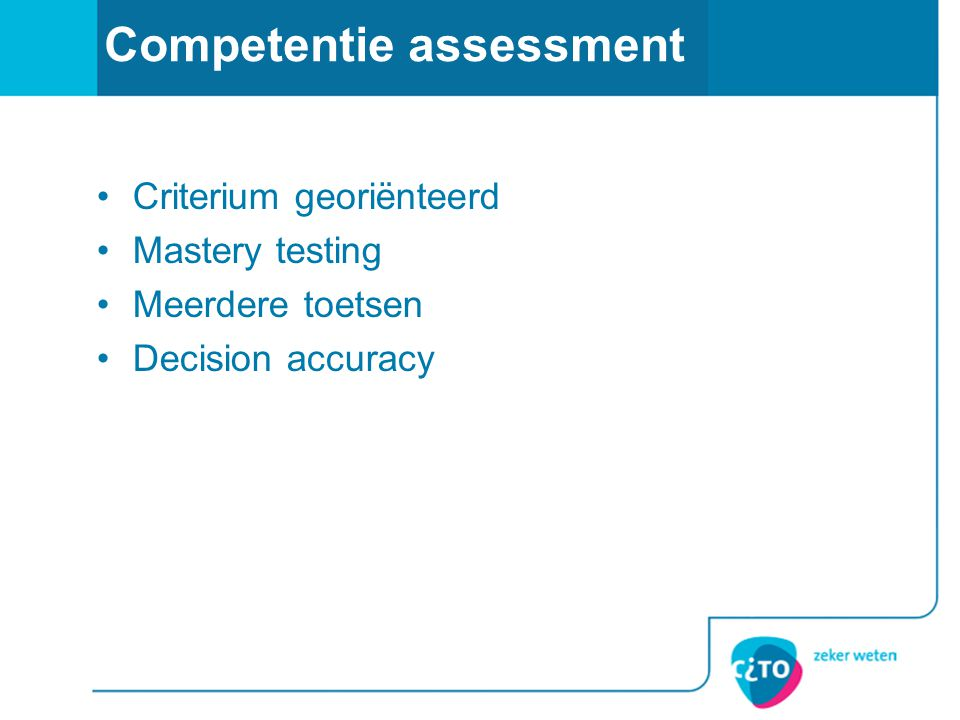 Competentie assessment