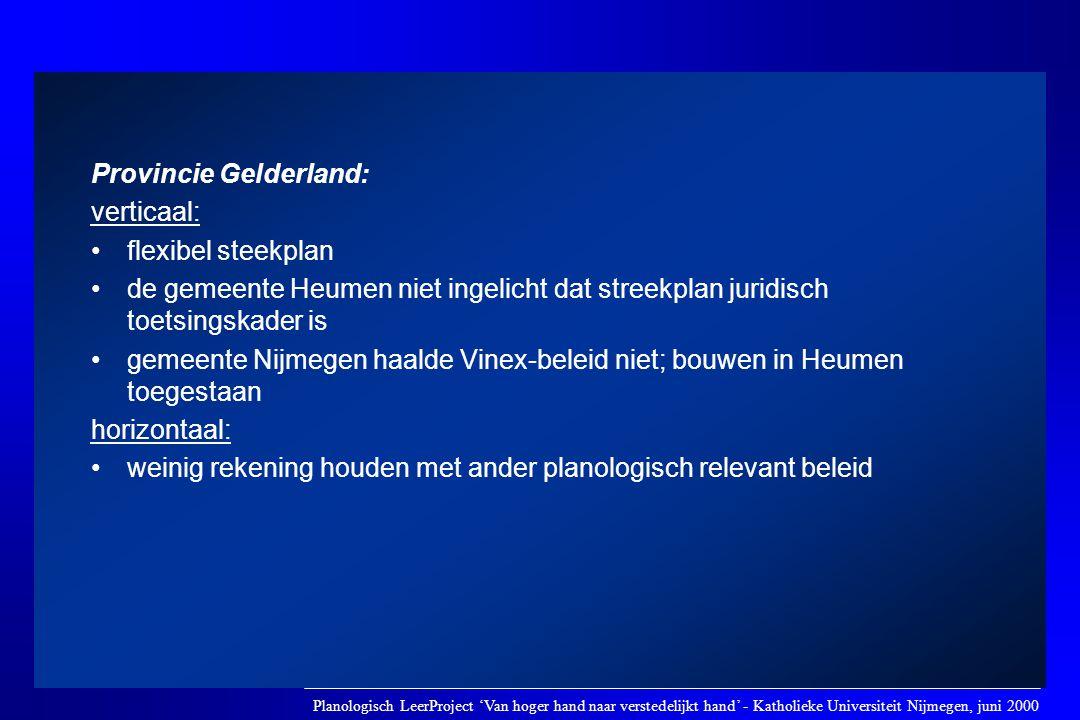 Provincie Gelderland: verticaal: flexibel steekplan