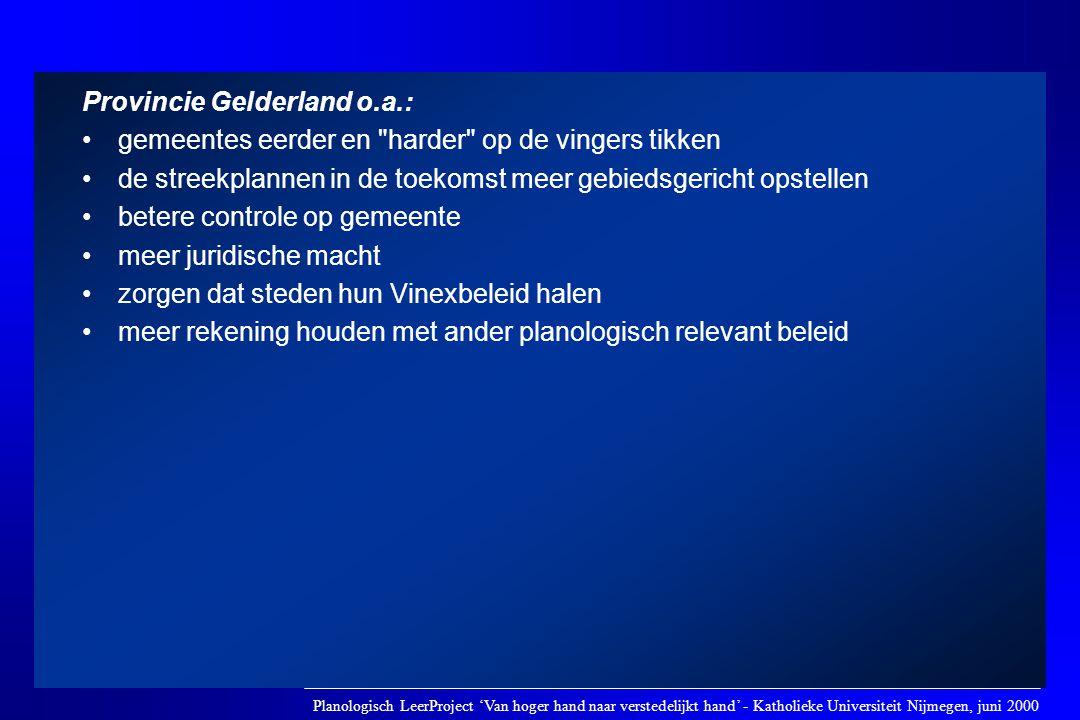 Provincie Gelderland o.a.: