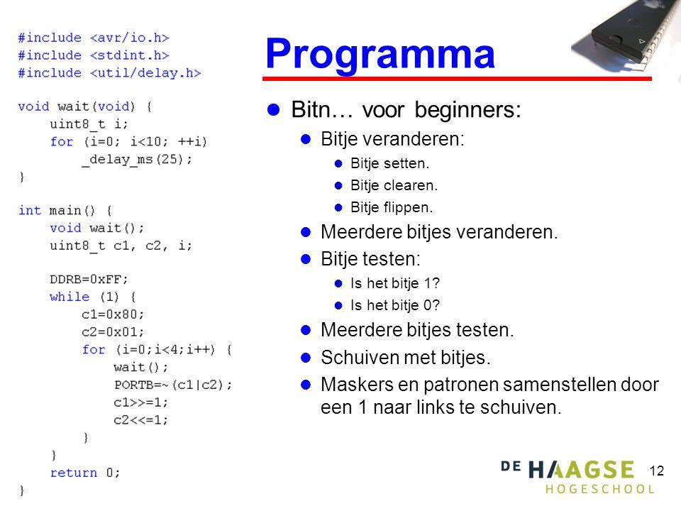 Programma Bitn… voor beginners: Bitje veranderen: