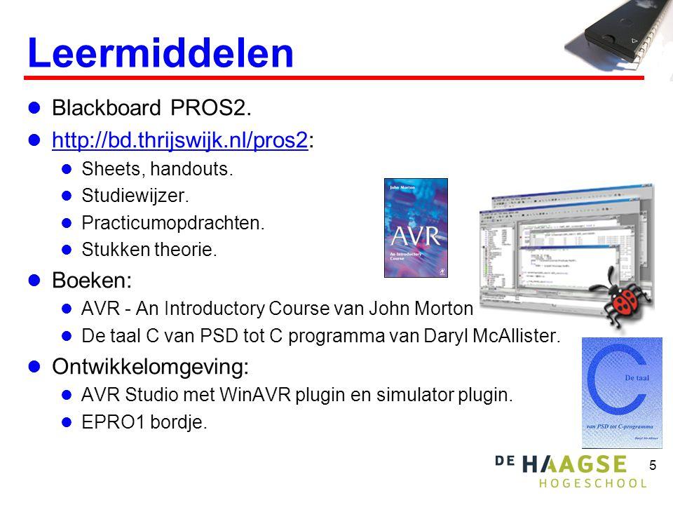 Leermiddelen Blackboard PROS2. http://bd.thrijswijk.nl/pros2: Boeken: