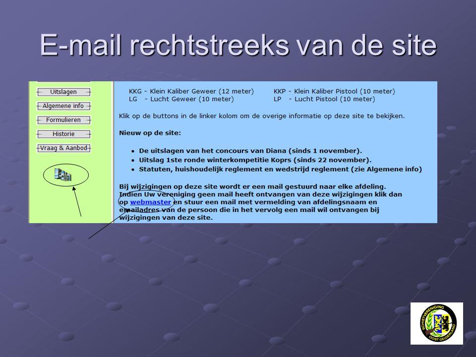 E-mail rechtstreeks van de site