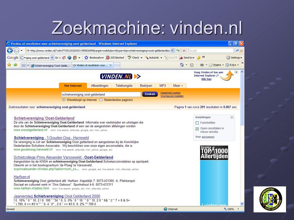 Zoekmachine: vinden.nl