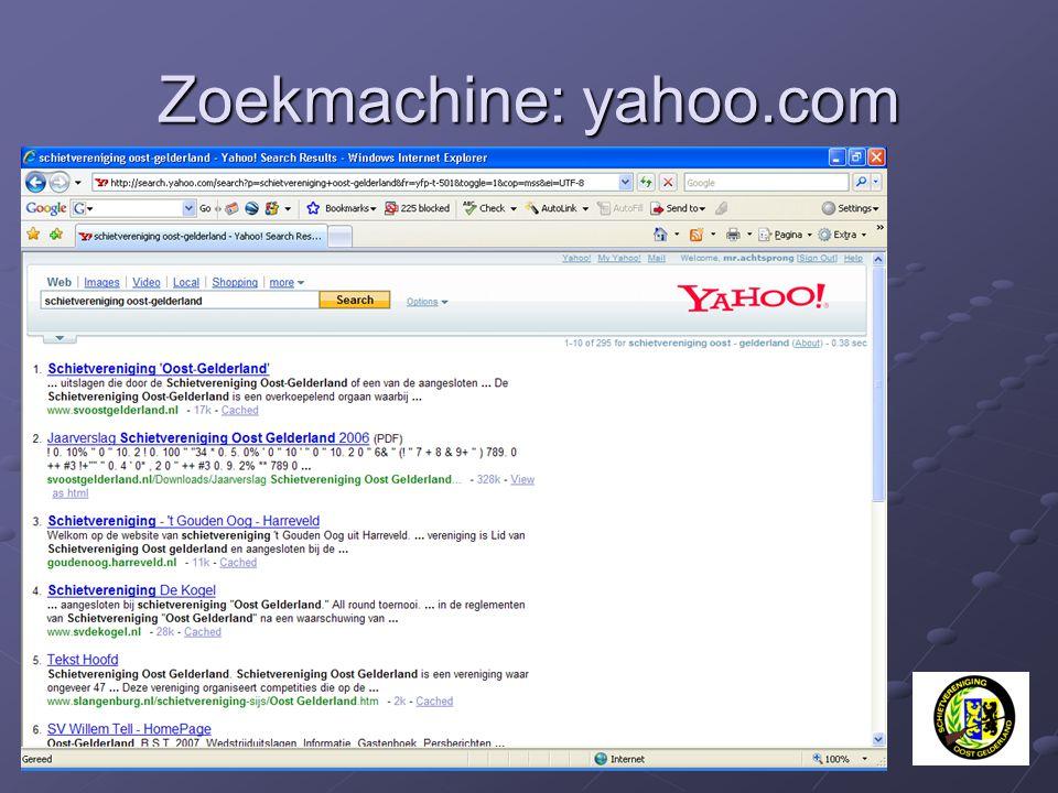 Zoekmachine: yahoo.com