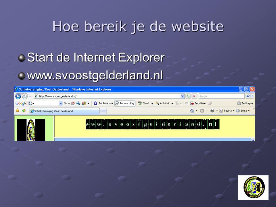 Hoe bereik je de website