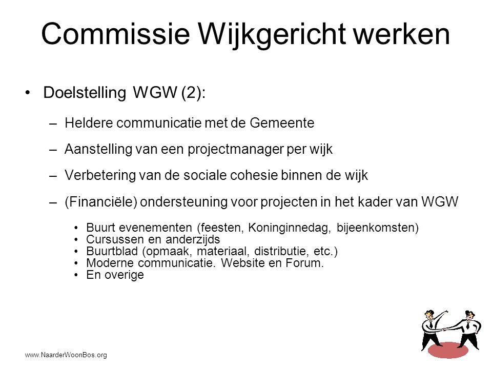 Commissie Wijkgericht werken