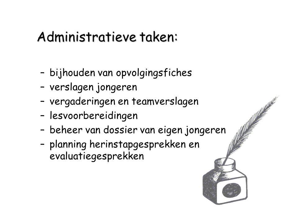 Administratieve taken: