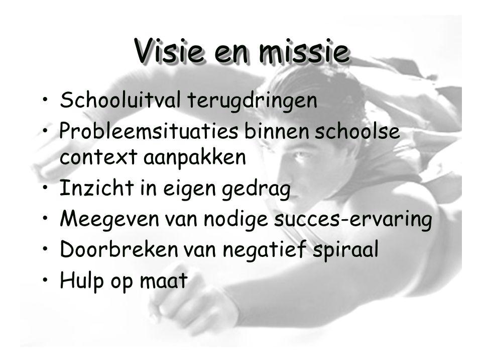 Visie en missie Schooluitval terugdringen