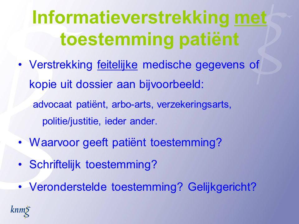 Informatieverstrekking met toestemming patiënt