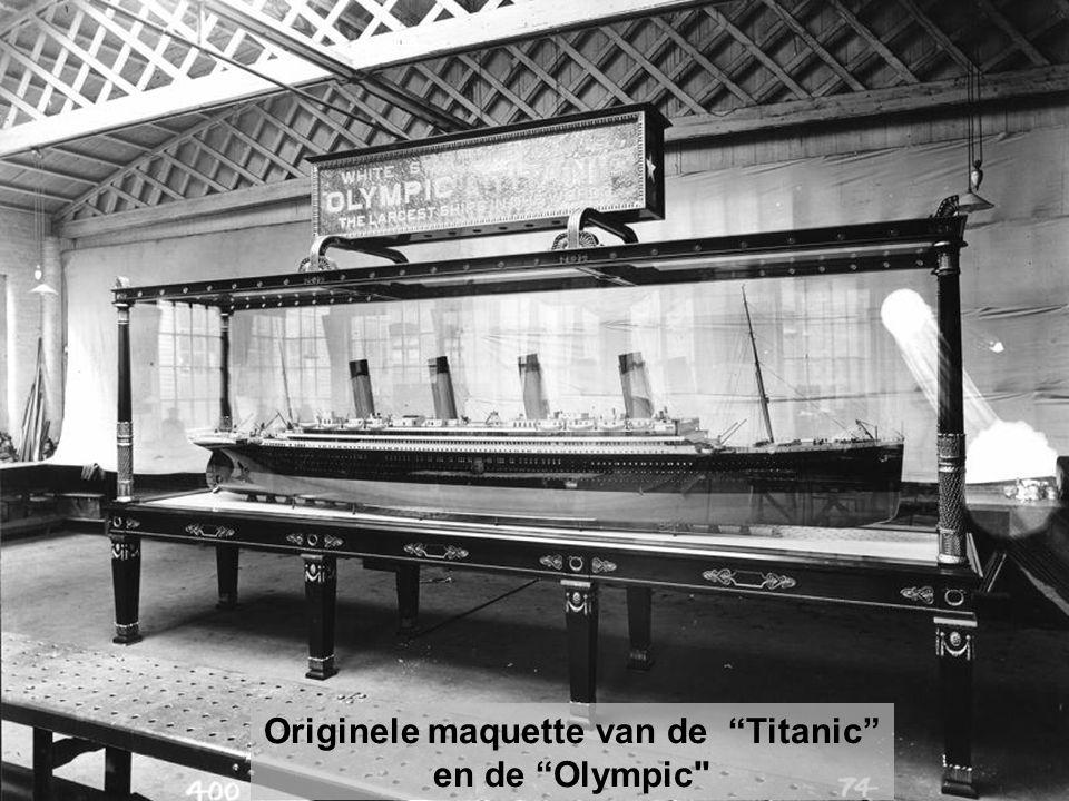 Originele maquette van de Titanic en de Olympic