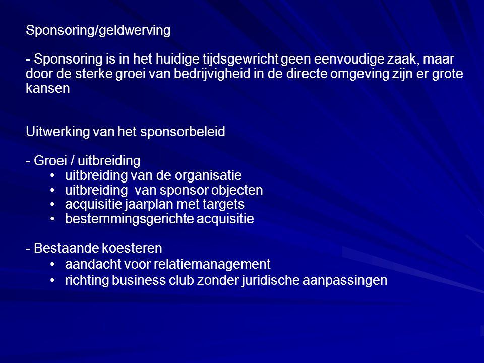 Sponsoring/geldwerving