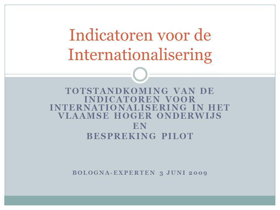 Indicatoren voor de Internationalisering