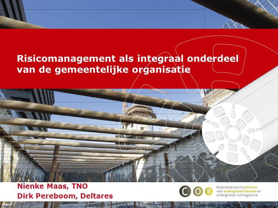 Nienke Maas, TNO Dirk Pereboom, Deltares