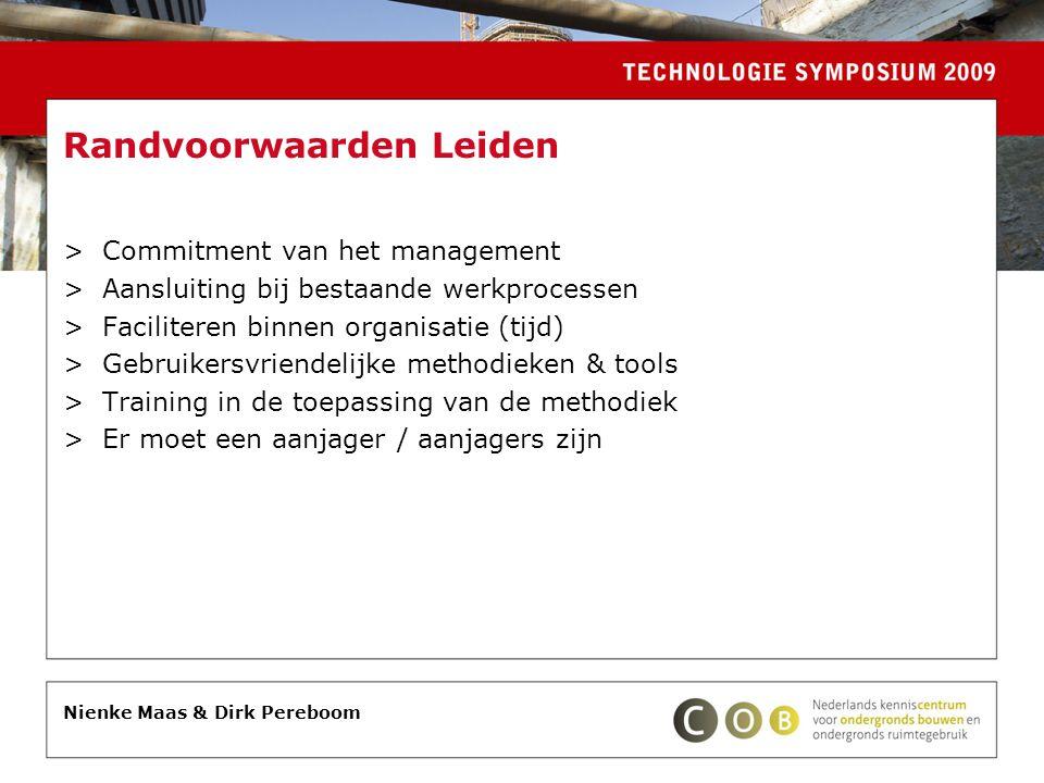 Randvoorwaarden Leiden