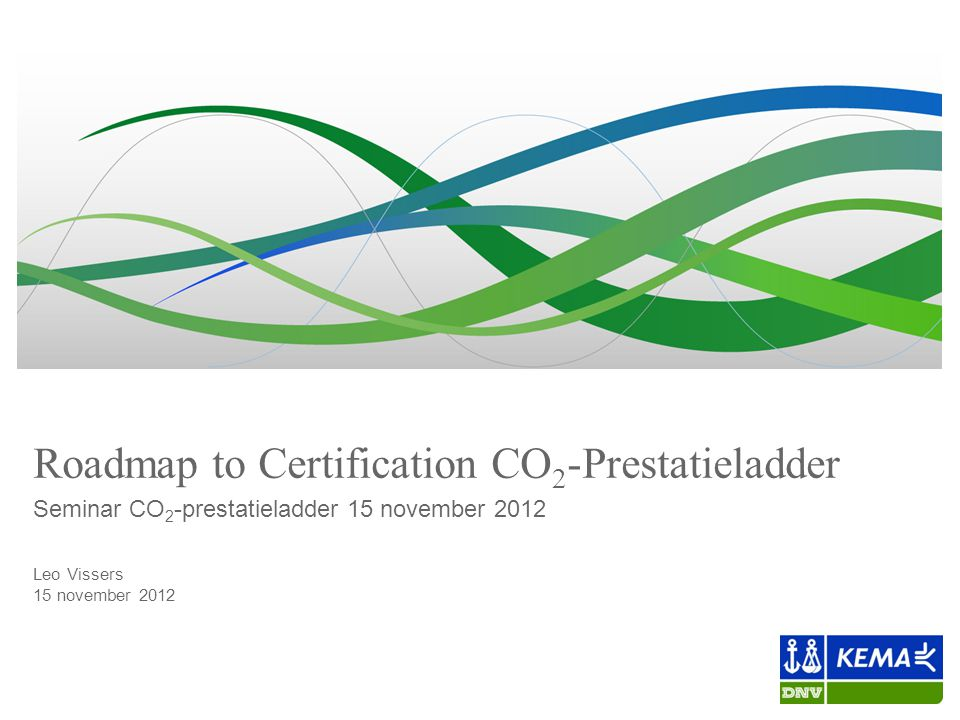 Roadmap to Certification CO2-Prestatieladder