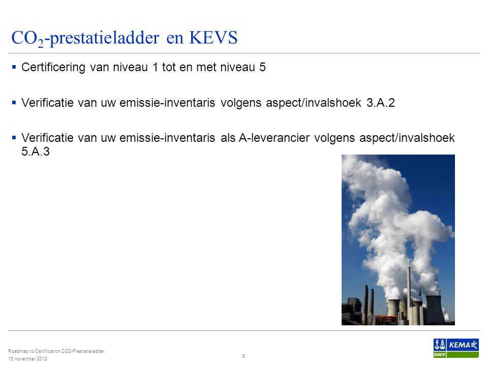 CO2-prestatieladder en KEVS