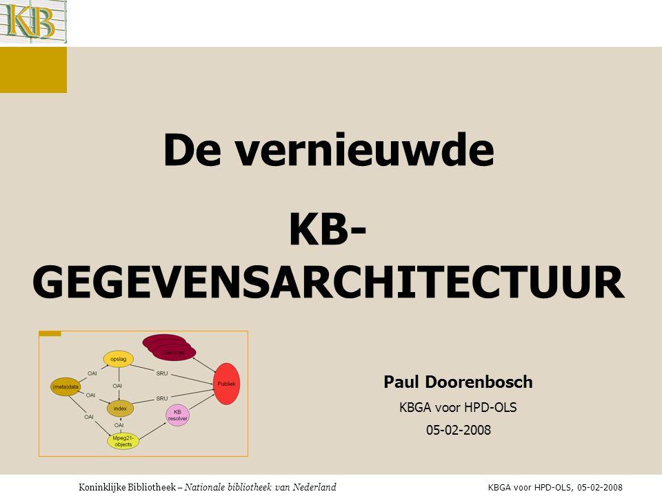 KB-GEGEVENSARCHITECTUUR