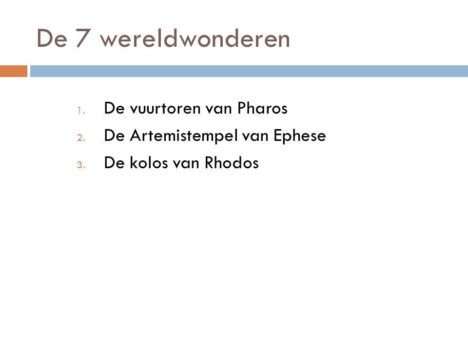 De 7 wereldwonderen De vuurtoren van Pharos