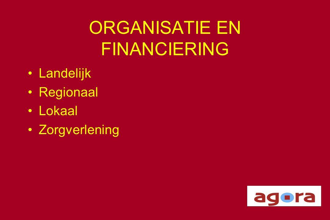 ORGANISATIE EN FINANCIERING