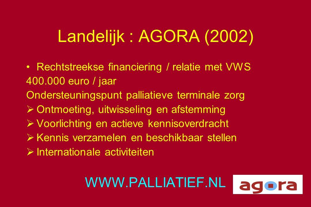 Landelijk : AGORA (2002) WWW.PALLIATIEF.NL
