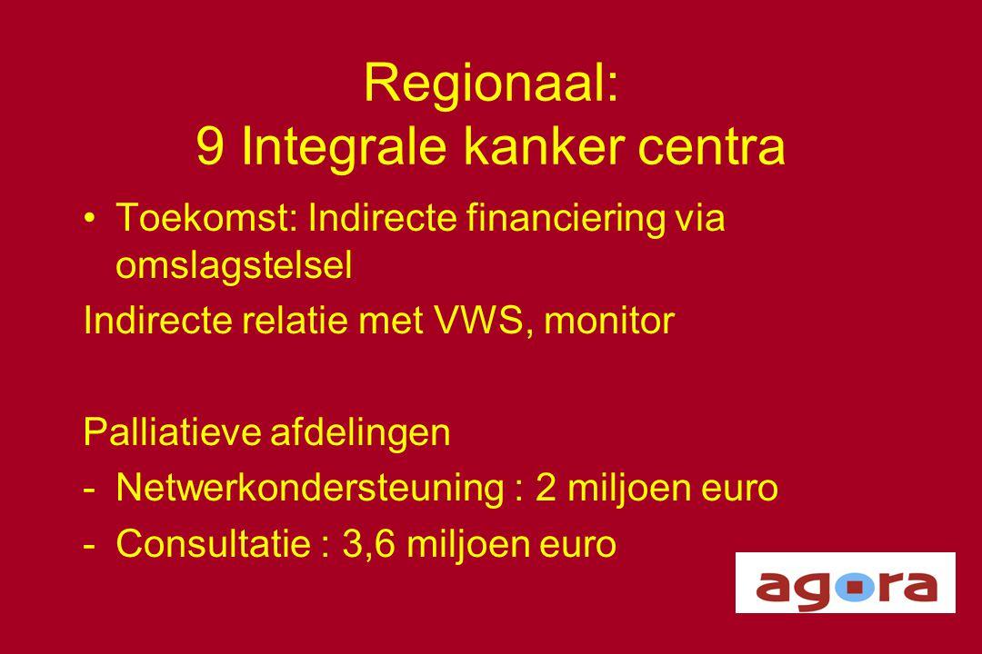 Regionaal: 9 Integrale kanker centra