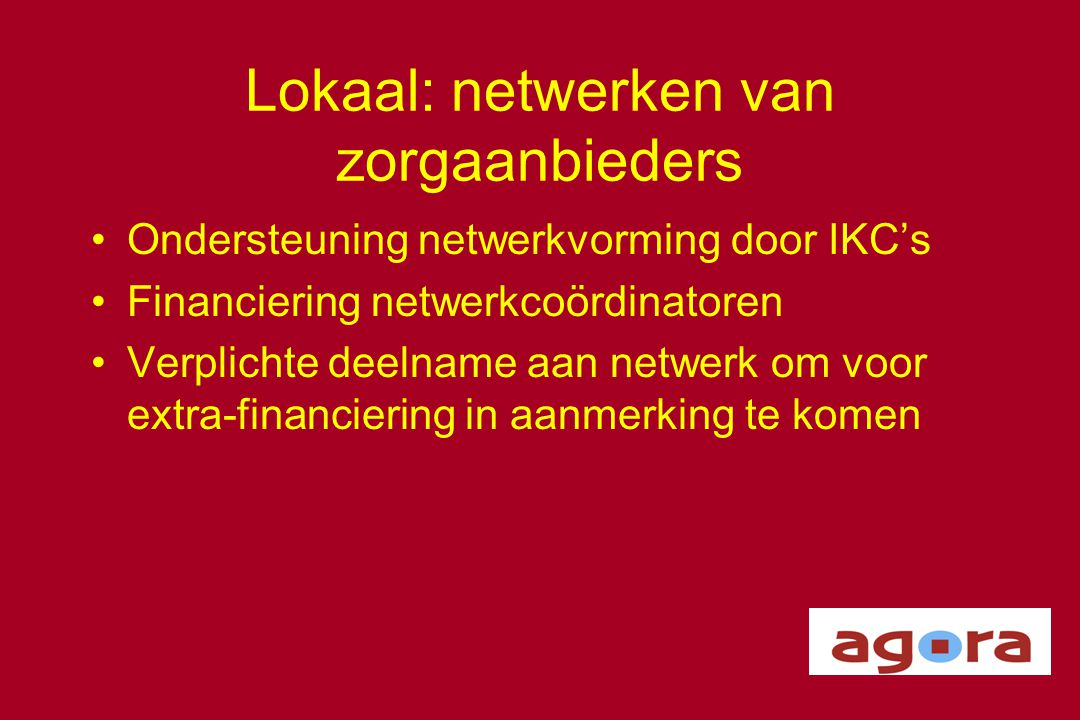 Lokaal: netwerken van zorgaanbieders