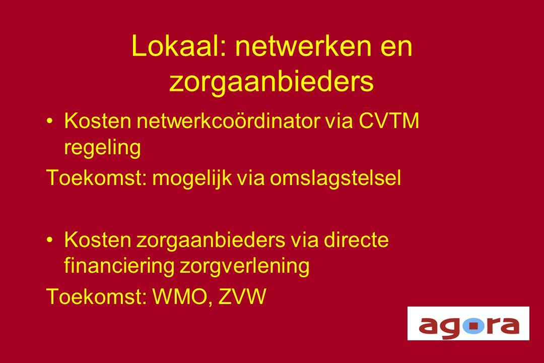 Lokaal: netwerken en zorgaanbieders