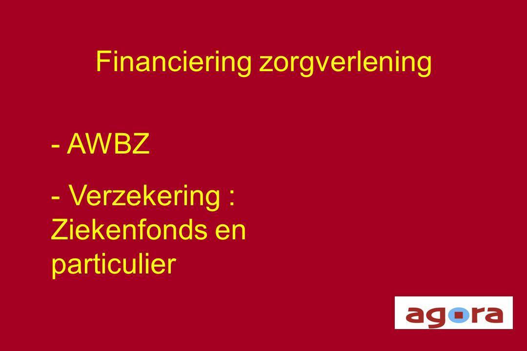 Financiering zorgverlening