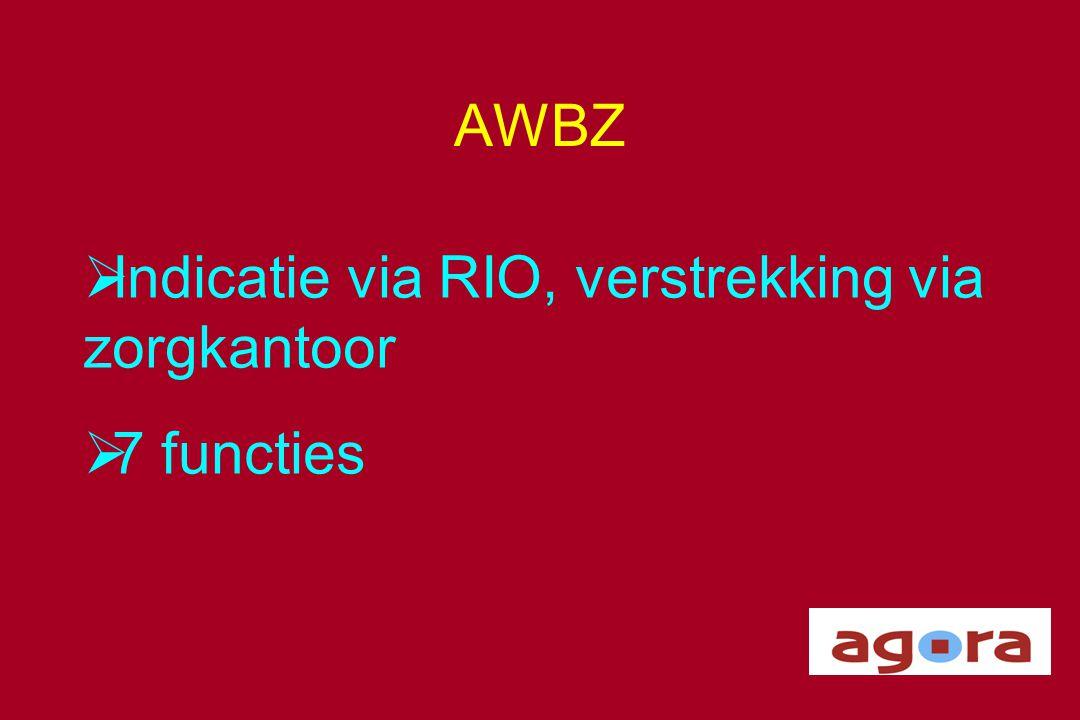 Indicatie via RIO, verstrekking via zorgkantoor 7 functies