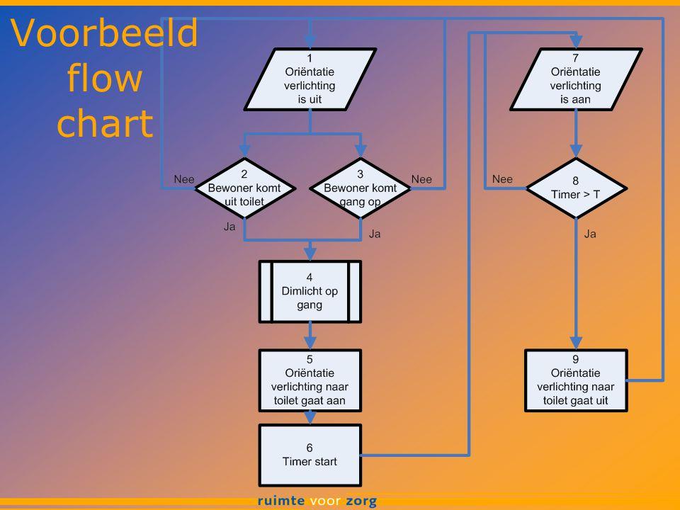 Voorbeeld flow chart