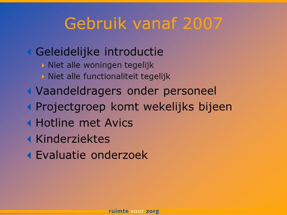Gebruik vanaf 2007 Geleidelijke introductie