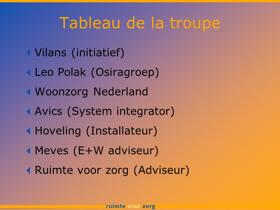 Tableau de la troupe Vilans (initiatief) Leo Polak (Osiragroep)