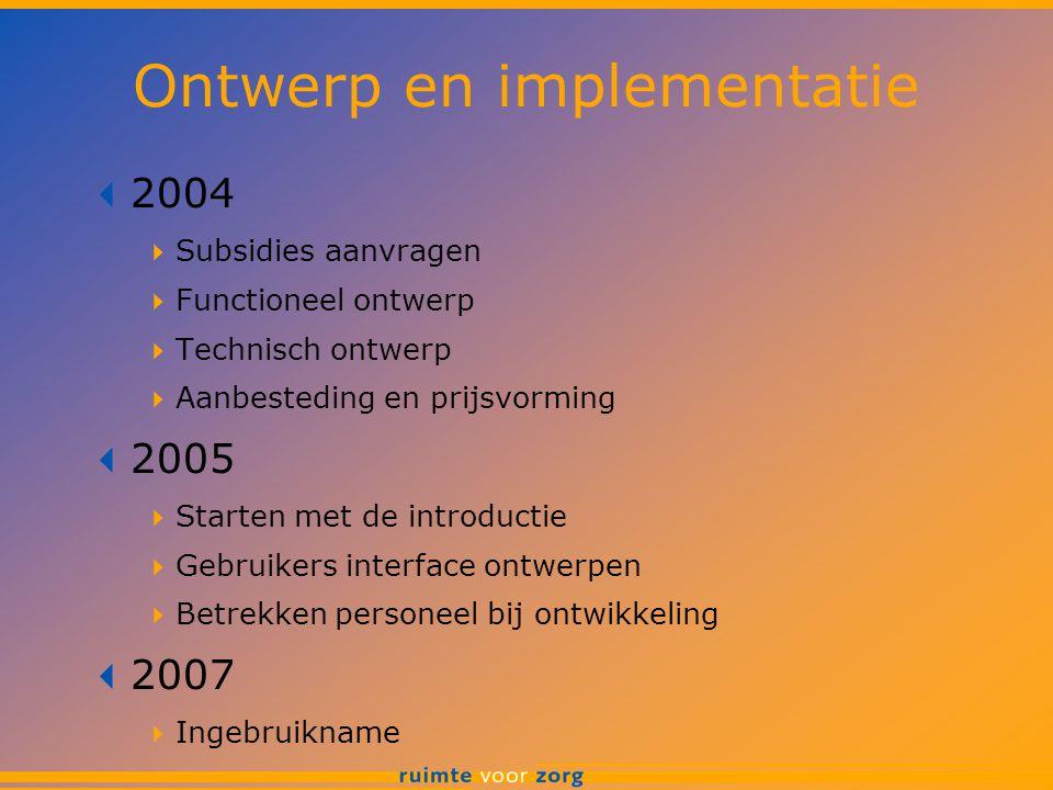 Ontwerp en implementatie