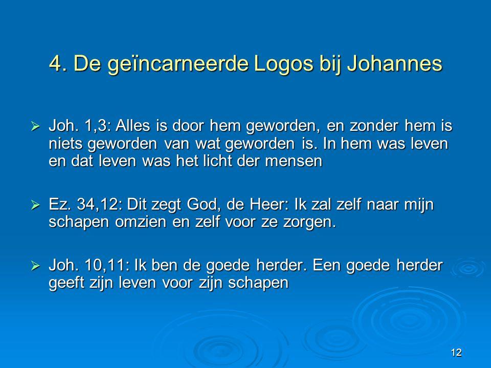 4. De geïncarneerde Logos bij Johannes