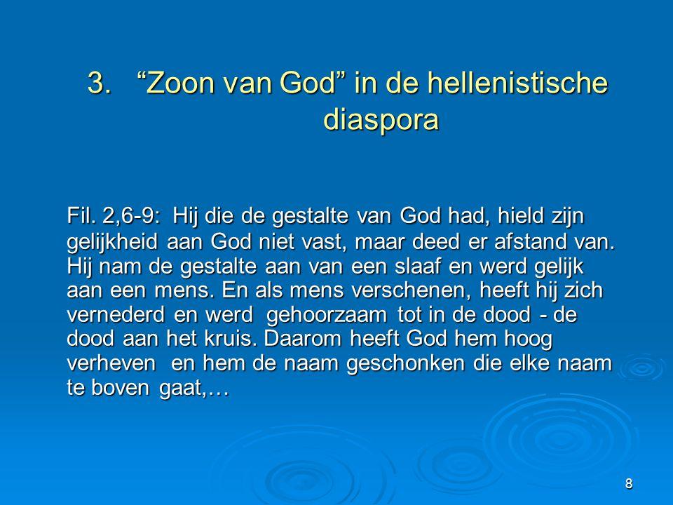 3. Zoon van God in de hellenistische diaspora