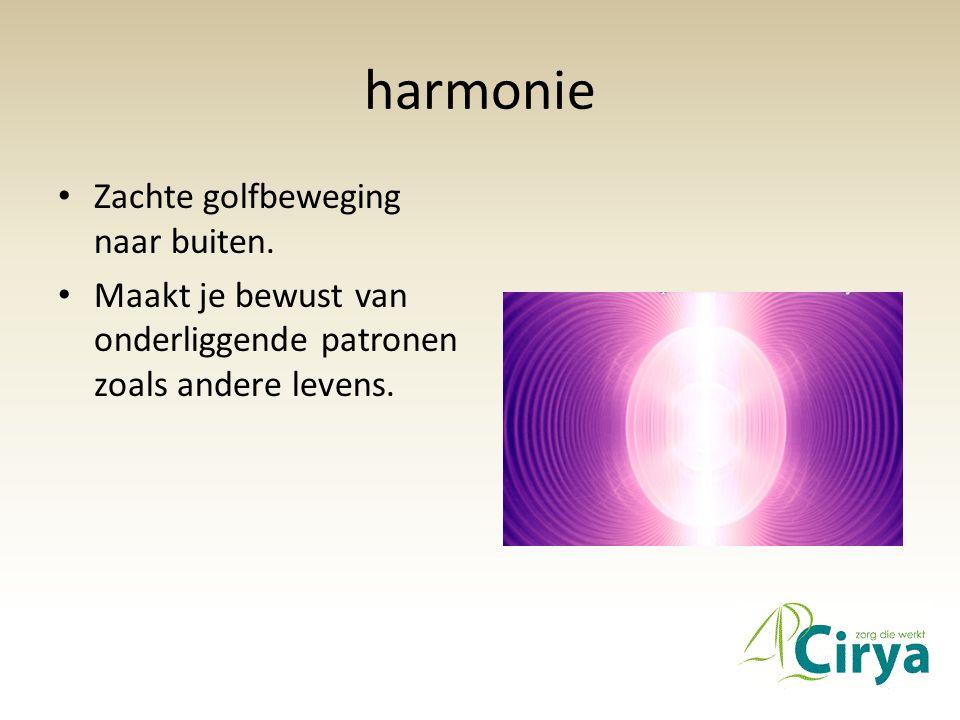 harmonie Zachte golfbeweging naar buiten.