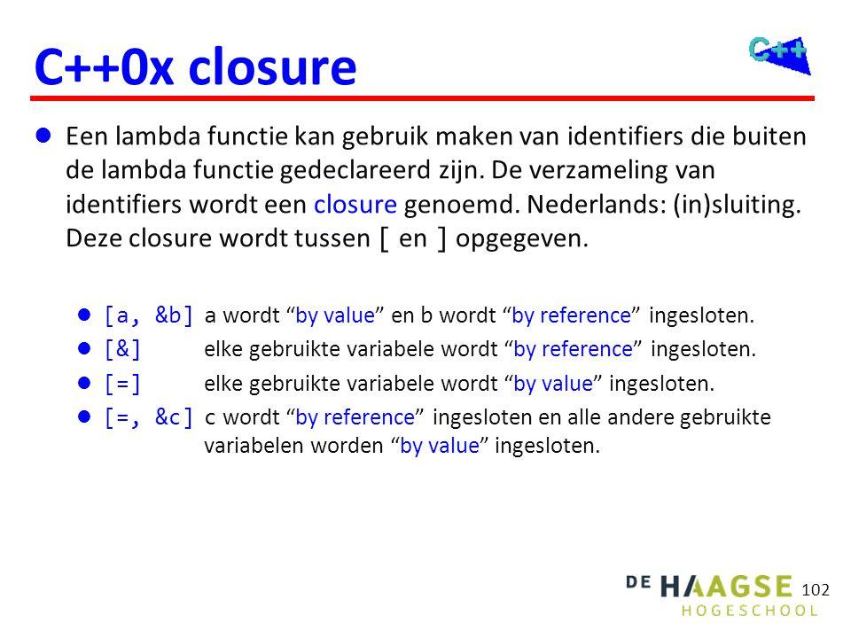 C++0x closure Bepaal de som van alle even getallen in een vector.