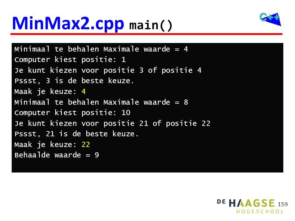 Minimax voorbeeld Computer 4 Mens 4 2 4 8 2 14 4 2 6 8 1 2 12 14 4 5 3