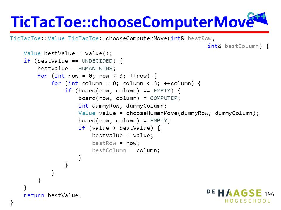TicTacToe::chooseHumanMove