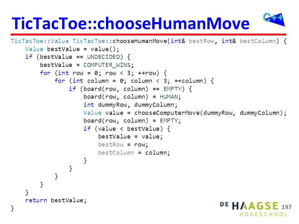 Tic-Tac-Toe aantal aanroepen chooseComputerMove bij eerste zet (computer begint): Maximaal: 1+9+9x8+9x8x7+ ... + 9x8x7x6x5x4x3x2x1 =