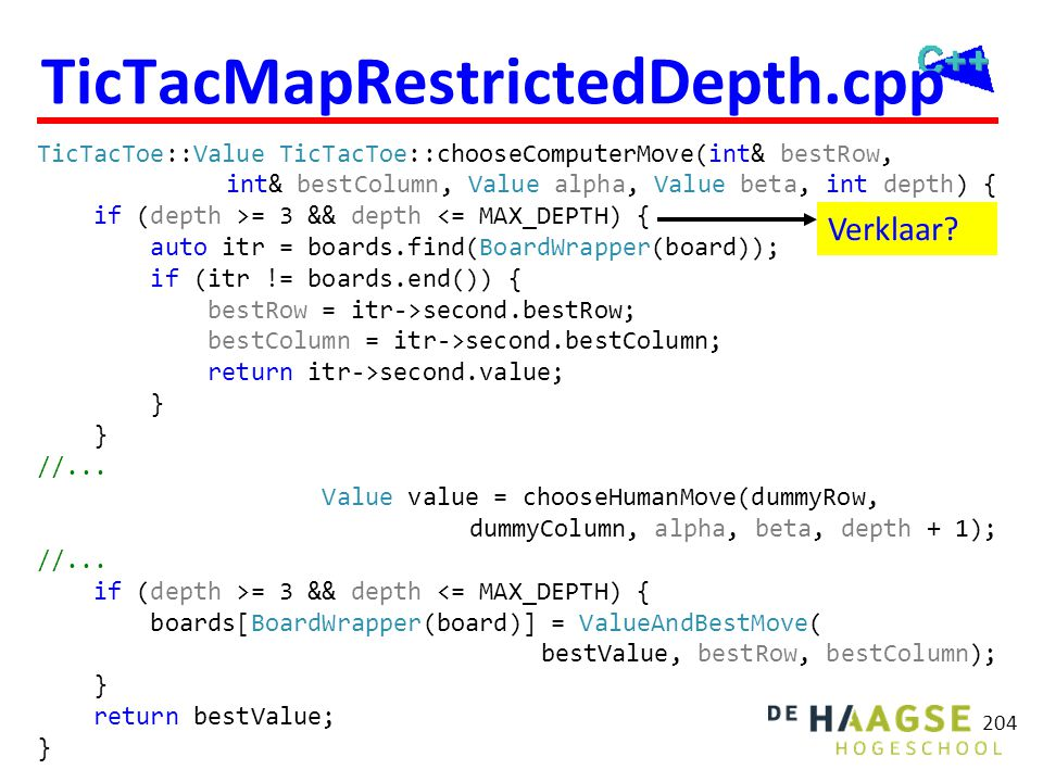 TicTacDetermineMaxTableDepth.cpp Debug mode