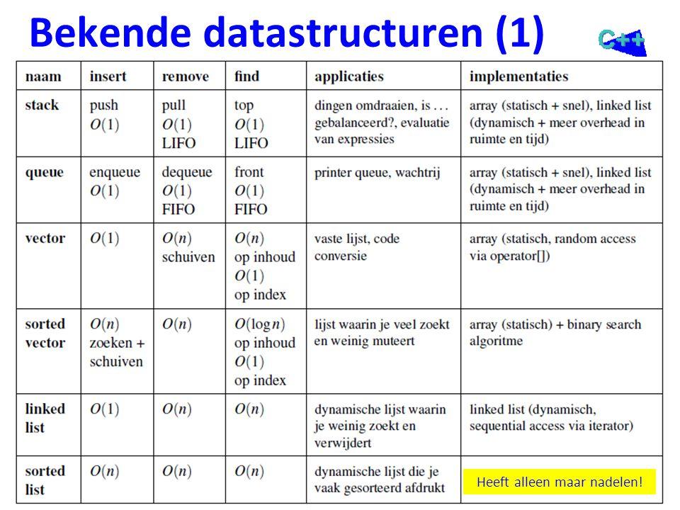Bekende datastructuren (2)