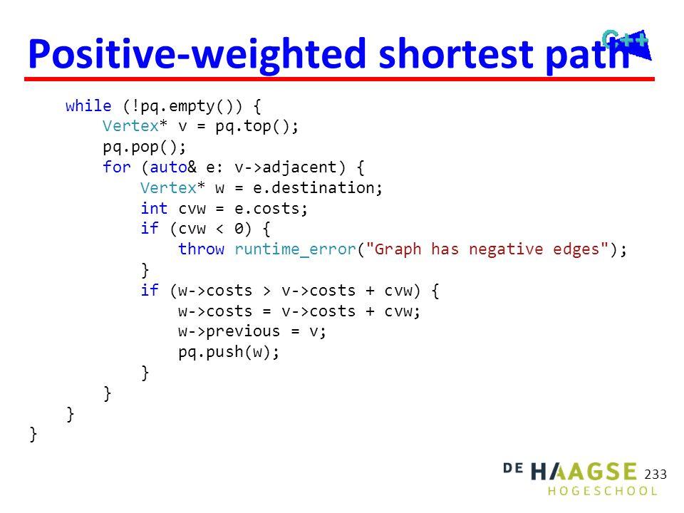 Dijkstra's algoritme 2 V0 V1 6 10 4 3 2 V3 2 V4 V2 4 8 5 6 V6 V5 1