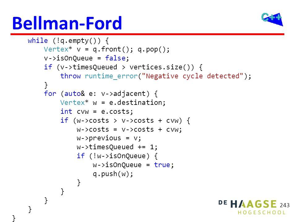 Bellman-Ford 6 V0 V1 4 4 -3 4 V2 2 V4 V3 -2