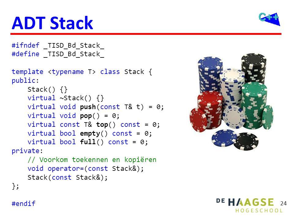 ADT Stack C++11 #ifndef _TISD_Bd_Stack_ #define _TISD_Bd_Stack_