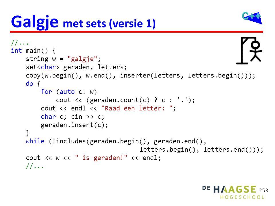 Galgje met sets (versie 2)